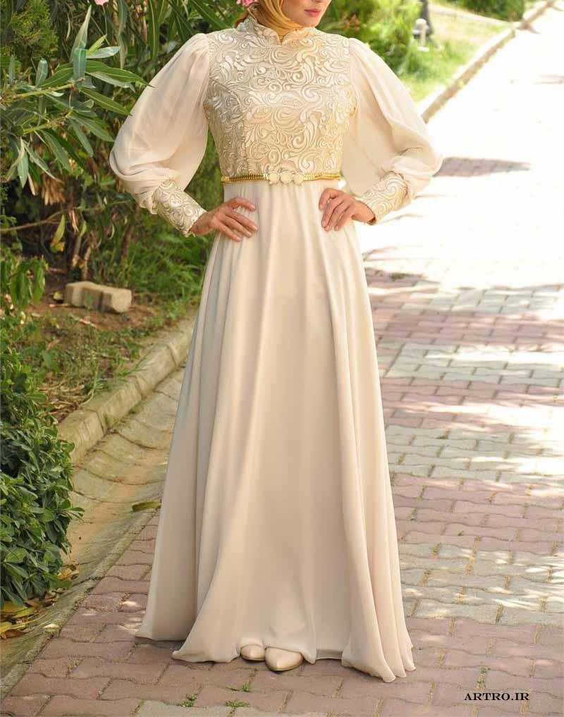 مدل لباس مجلسی زنانه بلند گیپور,