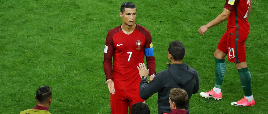کریستیانو رونالدو در دیدار رده بندی جام کنفدراسیون ها حضور نخواهد داشت