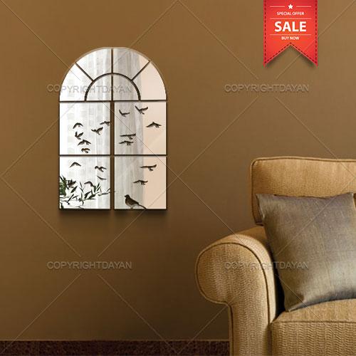 آینه دکوراتیو مدل اُرسی - آینه چند تکه پلکسی گلس