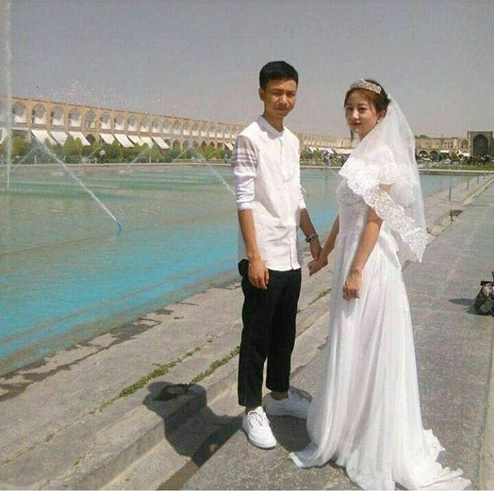 عکس/ عروس چینی در نقش جهان