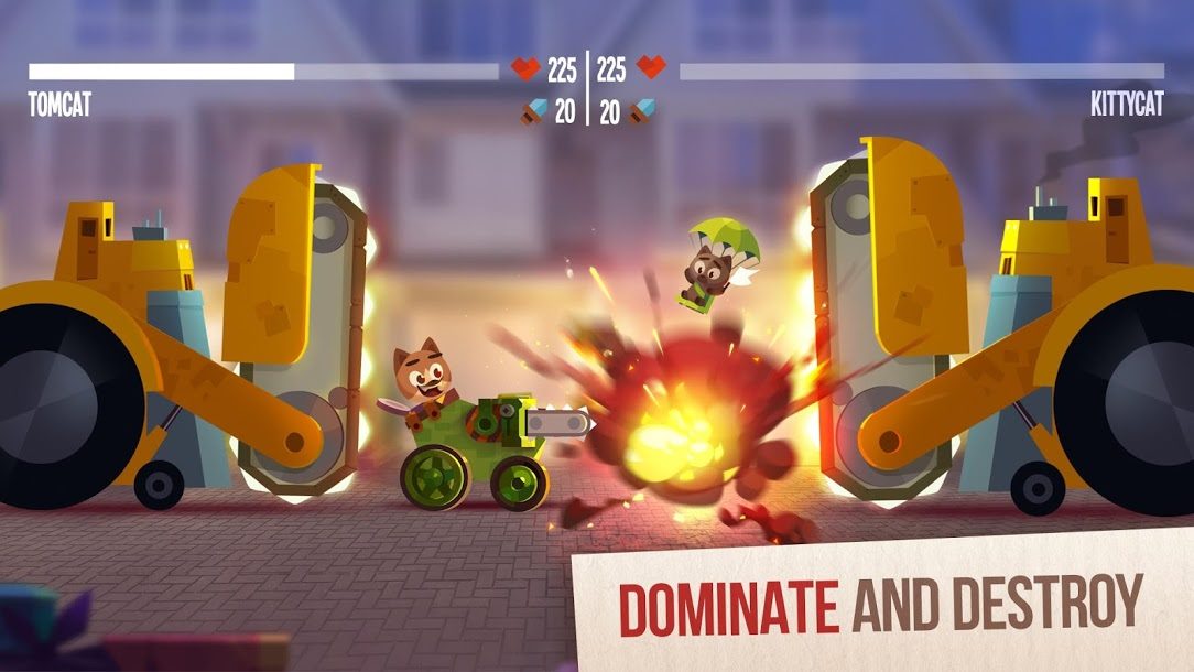 دانلود CATS : Crash Arena Turbo Stars 2.12.3 - گربه ها : گربه های زرنگ , آماده جنگ برای اندروید