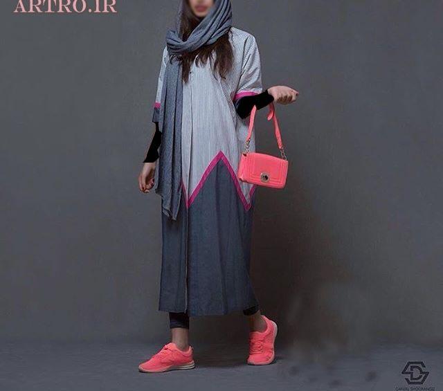 مدل مانتو بلند تابستانی ایرانی
