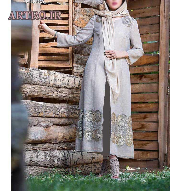مدل مانتو بلند جدید دخترانه  96-2017