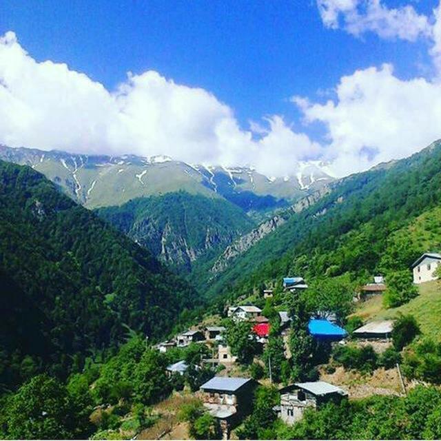 عکس جدید از روستای گلامره در ابتدای تابستان
