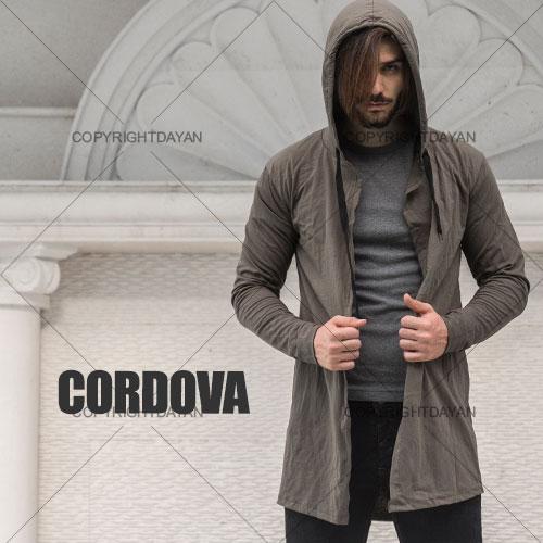 هودی بلند مردانه Cordova(زیتونی)  - سویشرت بلند مردانه