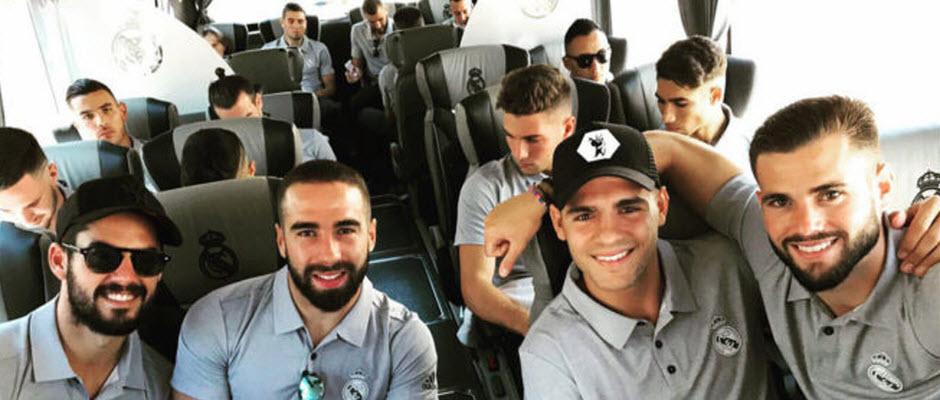 موراتا هم به همراه دیگر بازیکنان رئال مادرید به لس آنجلس پرواز کرد