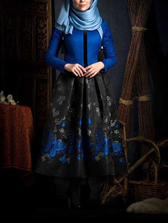مدل لباس مجلسی بلند زنانه شیک 2017