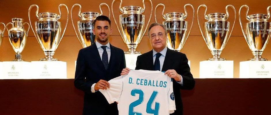 معارفه رسمی دنی سبایوس، شماره 24 جدید رئال مادرید