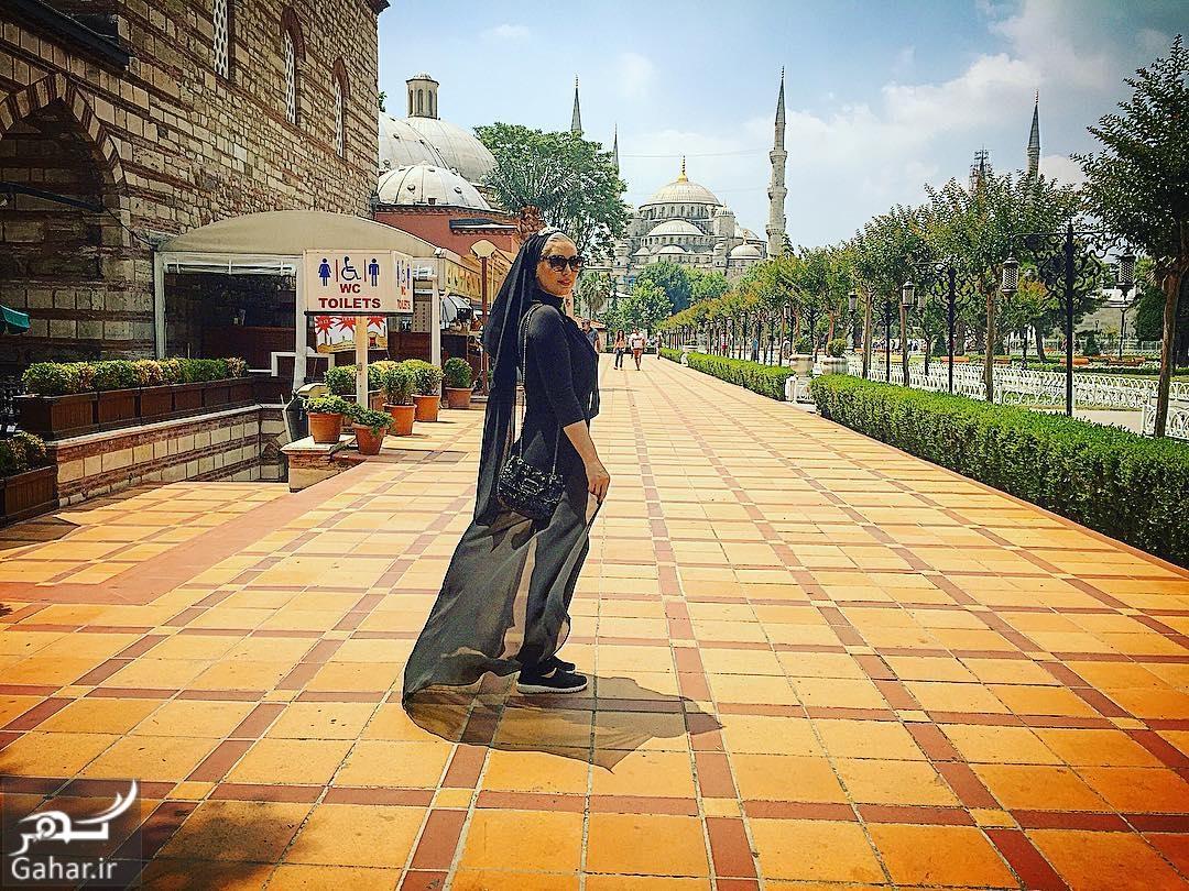 سحر قریشی در ترکیه با تیپ متفاوت + عکس ناب