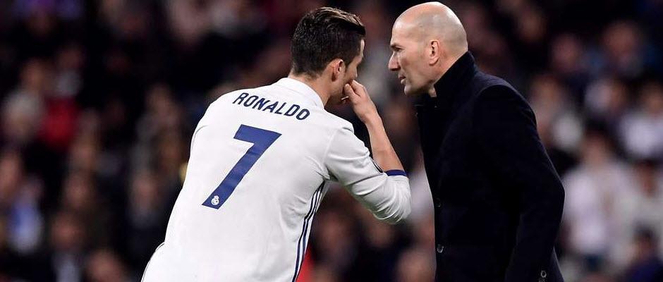 زیدان: رونالدو در رئال مادرید خواهد ماند؛ تمام!