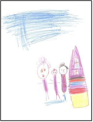 دانلود پاورپوینت تفسیر نقاشی کودکان با موضوع خانواده