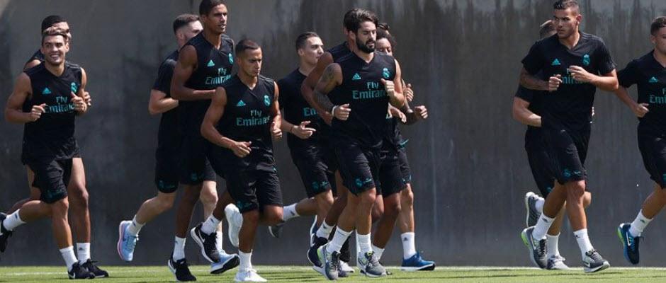 برگزاری آخرین جلسه تمرینی رئال مادرید پیش از رویارویی با یونایتد