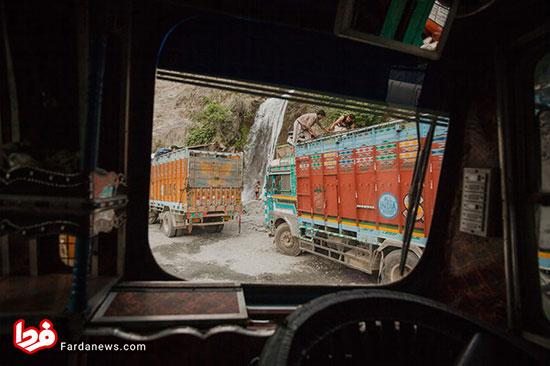 کامیونها و کامیونداران هندی به روایت تصاویر