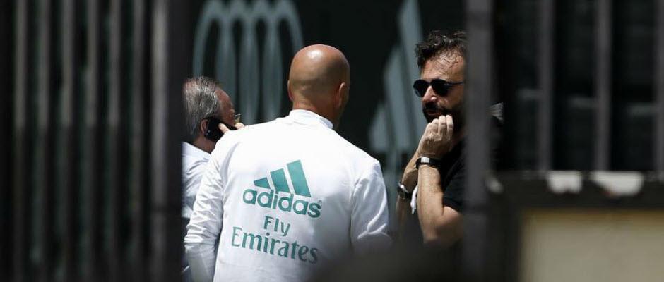 تصویری که مارکا از جلسه سه نفره زیدان، پرز و سانچز در مورد امباپه منتشر کرد
