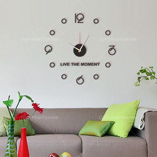 ساعت دیواری طرح زندگی - ساعت دیواری پلکسی گلس