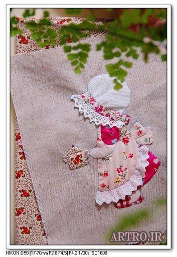 تکه دوزی روی لباس نوزاد,