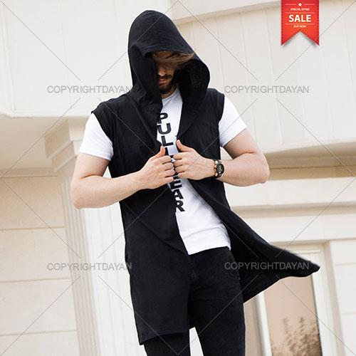 ست شنل و تیشرت Pull & Bear - پوشاک مردانه