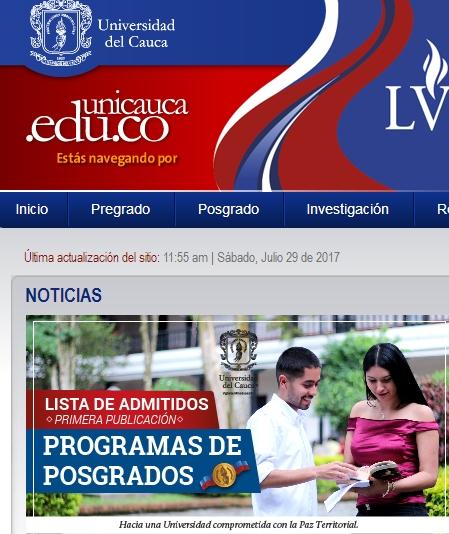 یوزر و پسورد دانشگاه University of Cauca کلمبیا - دانلود کتاب