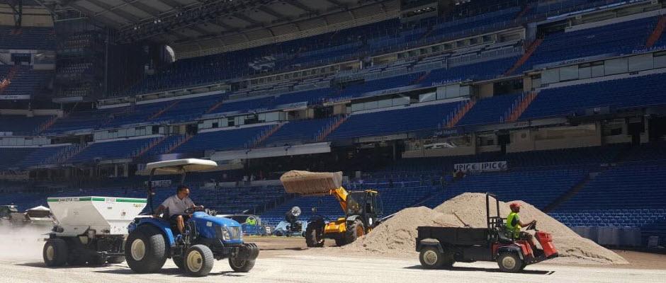 تعویض چمن ورزشگاه برنابئو و آماده سازی برای سوپرکاپ اسپانیا