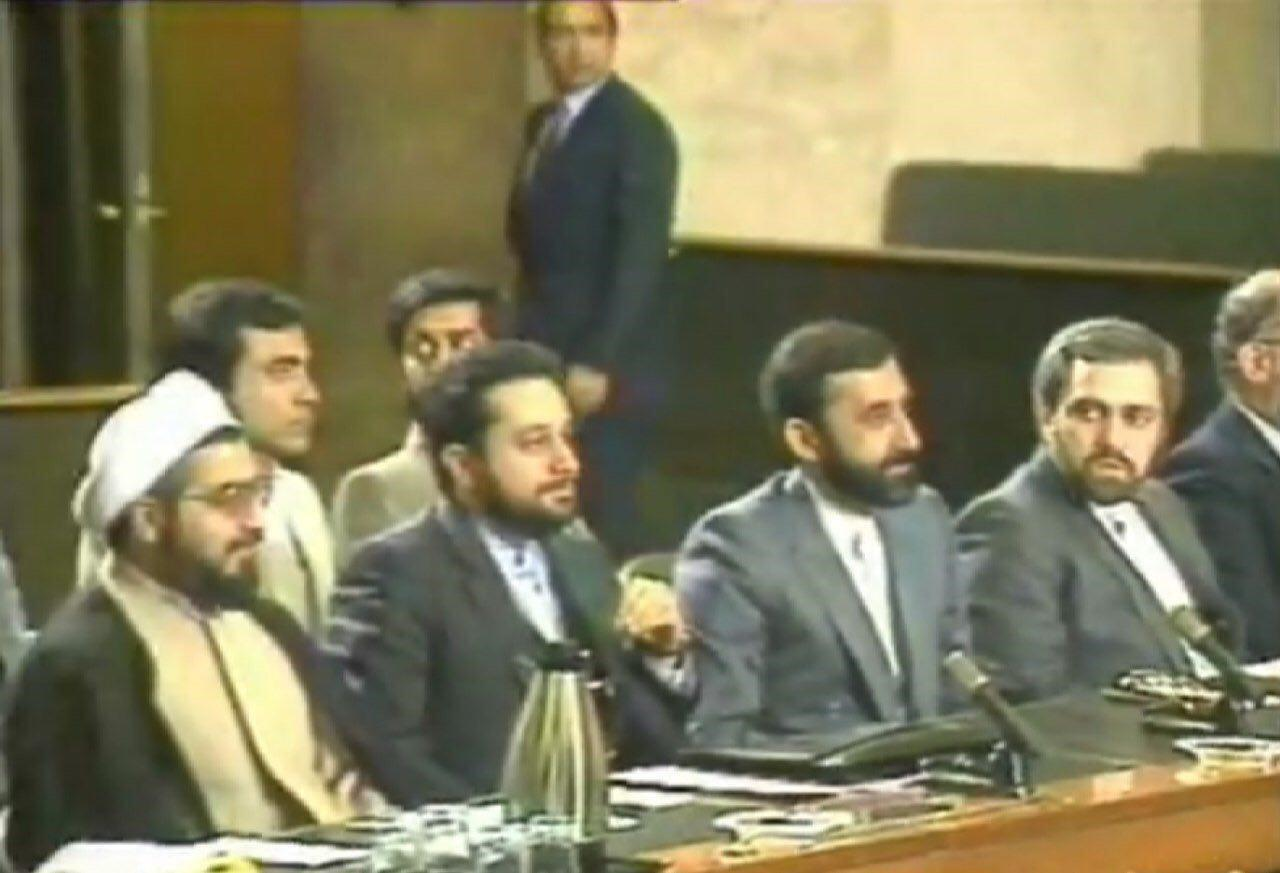 عکس ناب از تیم مذاکره کننده ایران در قطعنامه ۵۹۸