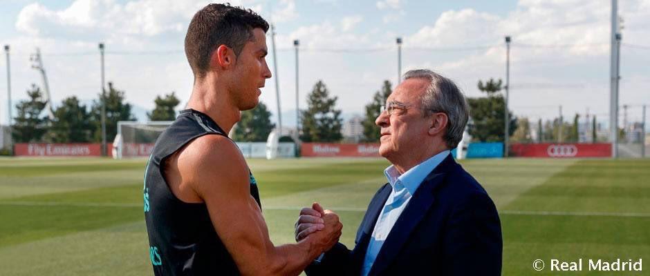 تصاویر اولین حضور کریستیانو رونالدو در تمرینات فصل جدید رئال مادرید