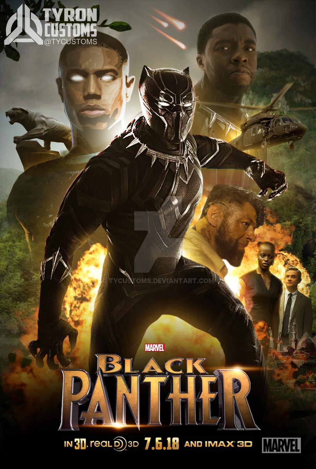 Black%20Panther%202018.3 1 دانلود فیلم Black Panther 2018 : کیفیت ۳D 1080p Bluray با حجم ۲۳ گیگابایت اضافه شد