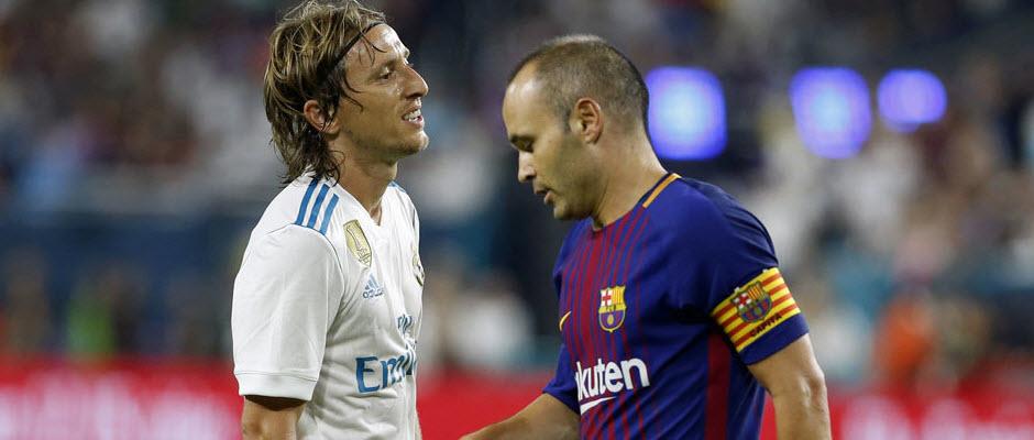 به دلیل محرومیت، مودریچ بازی رفت سوپرکاپ اسپانیا را از دست می دهد