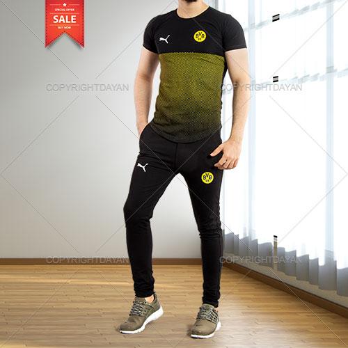 ست تیشرت و شلوار مردانه Puma مدل B.Dortmund