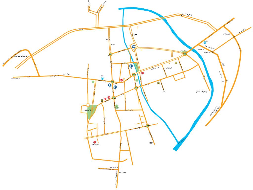 نقشه بردسیر