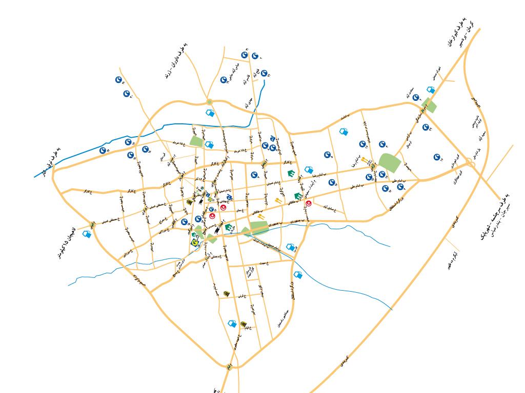 نقشه رفسنجان