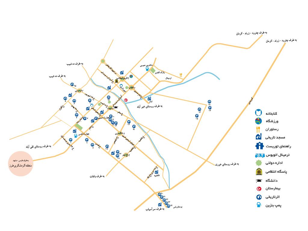 نقشه راور