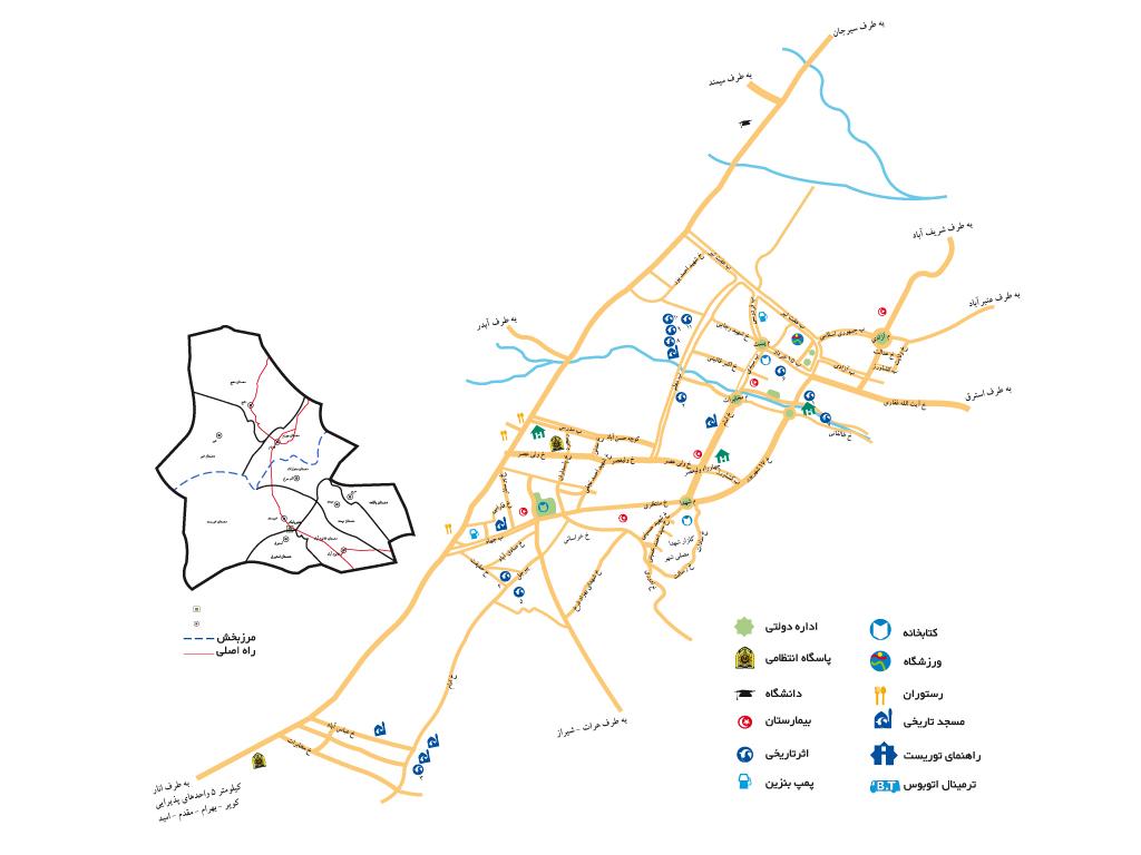 دانلود نقشه شهربابک