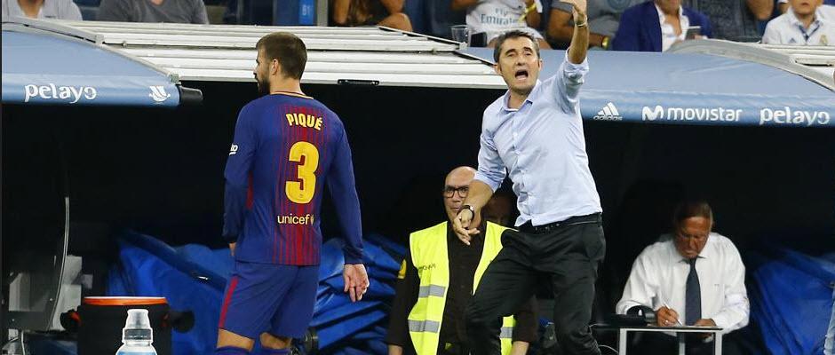 فریاد های او می ماند هواداران رئال مادرید هنگام تعویض پیکه در ال کلاسیکو