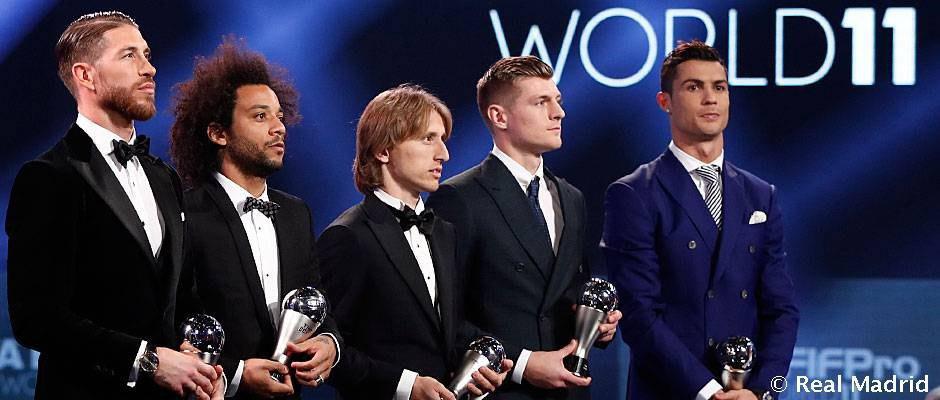 لیست اولیه بهترین بازیکن جهان در سال 2017 منتشر شد؛ رئال مادرید 7 نماینده دارد