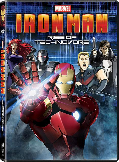 دانلود دوبله فارسی انیمیشن مرد آهنی Iron Man: Rise of Technovore 2013