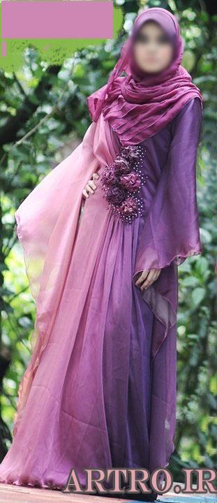 مدل لباس مجلسی پوشیده 2017
