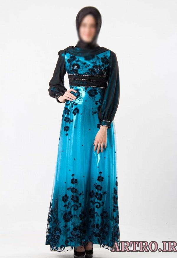 مدل لباس مجلسی پوشیده 2018
