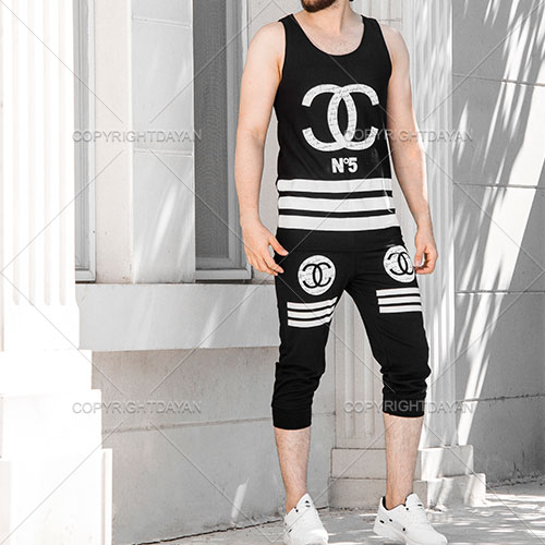 ست رکابی و شلوارک Chanel مدل N5 - لباس تابستانه