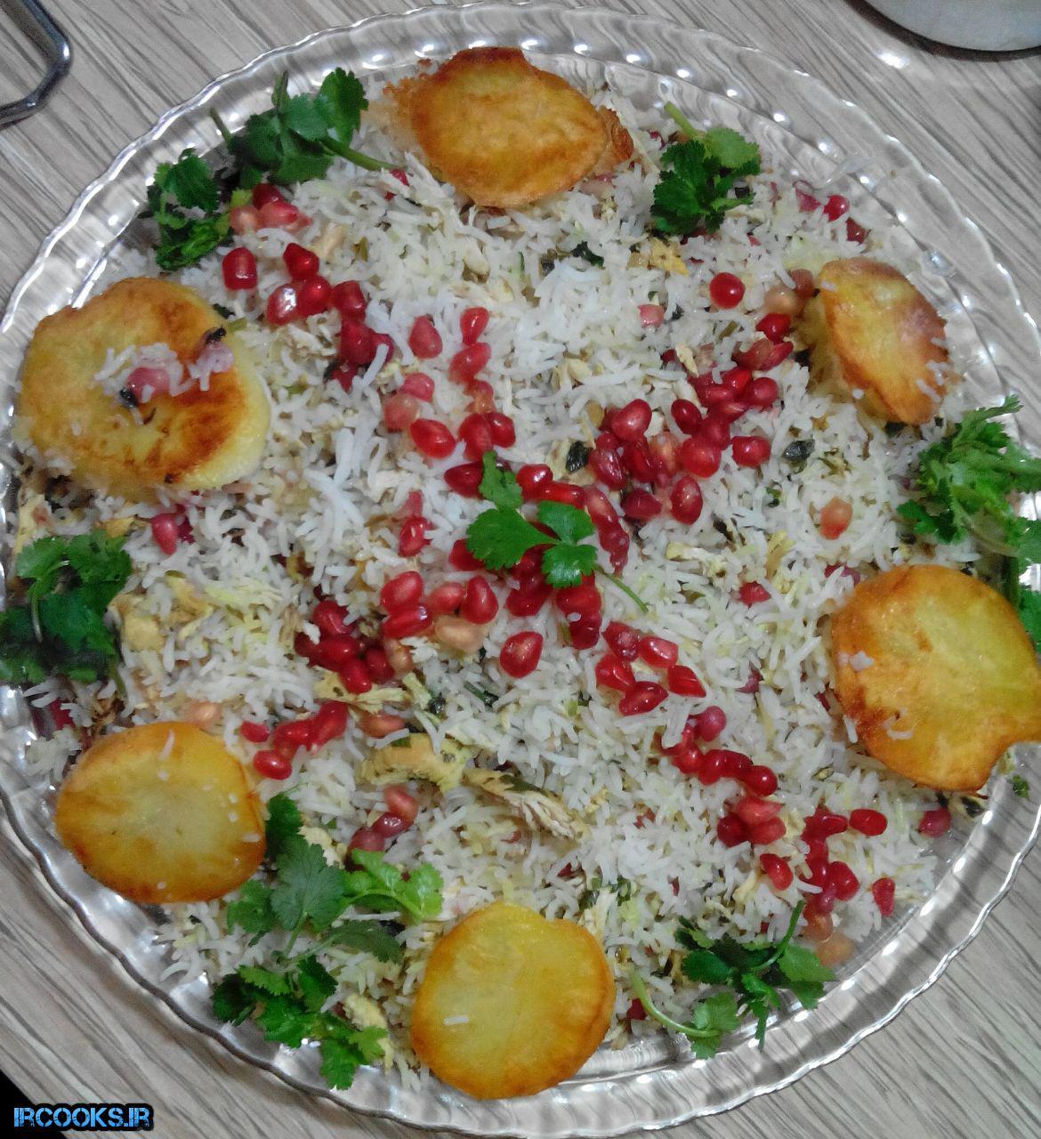 انار پلو شیرازی