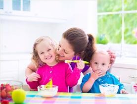 6 وعده غذایی خوب به علاوه شیر برای کودکان