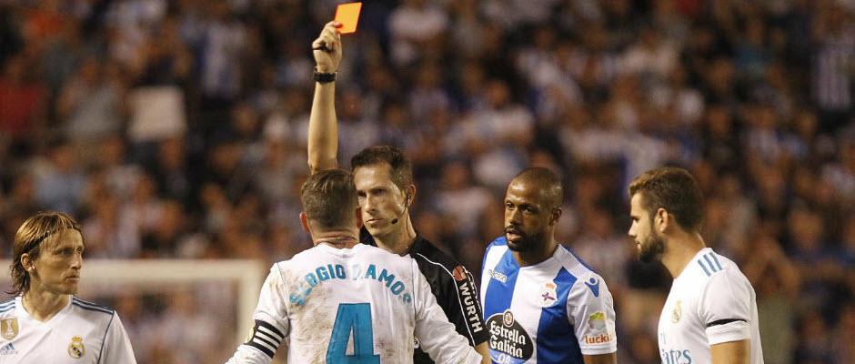 فرجام خواهی رئال مادرید برای کارت زرد دوم راموس