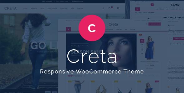 دانلود رایگان قالب پریمیوم فروشگاهی ووکامرس وردپرس به نام Creta