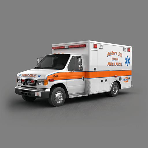 مدل سه بعدی ماشین آمبولانس امبولانس