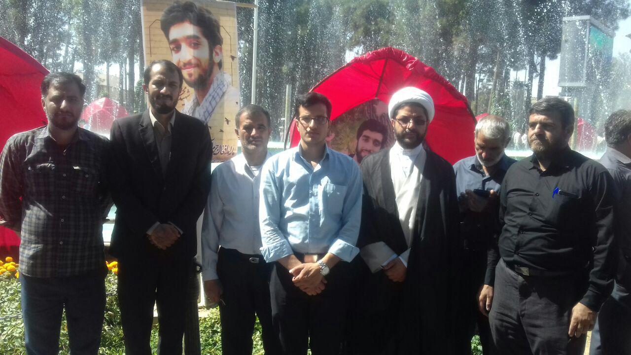 شرکت درمراسم شهید محسن حججی در نجف اباد