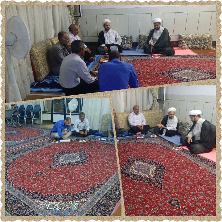 جلسه امام جماعت مسجد بلال و هئیت امنا مسجد با امام جمعه شهر قهدریجان