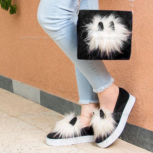 ست کیف و کفش ترلان(مشکی) - ست پوشاک دخترانه