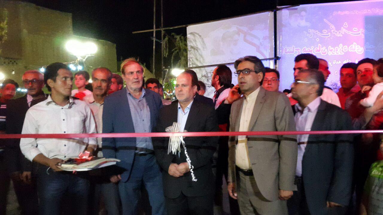 همزمان با هفته دولت پروژه های شهرداری اسکو افتتاح شدند+گزارش تصویری