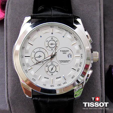 ساعت تیسوت بند چرم مردانه مدل T1853 (بندچرمی جدید در 3 رنگ متنوع)