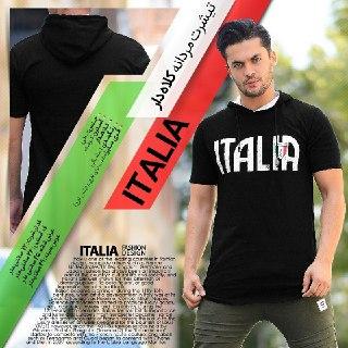 تيشرت مردانه مدل ITALIA مشکی