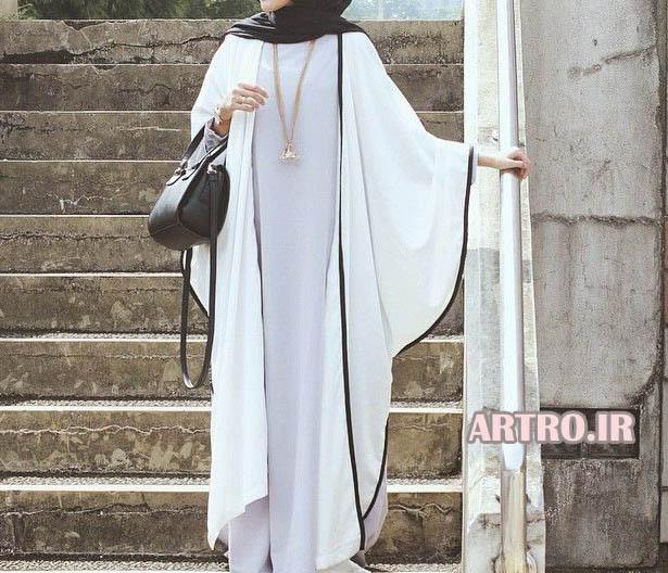 شیک ترین مدل مانتو کیمونو 2018
